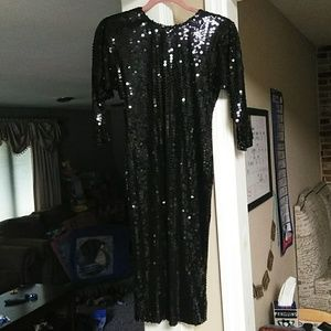 Black Never Worn Sequin Dress